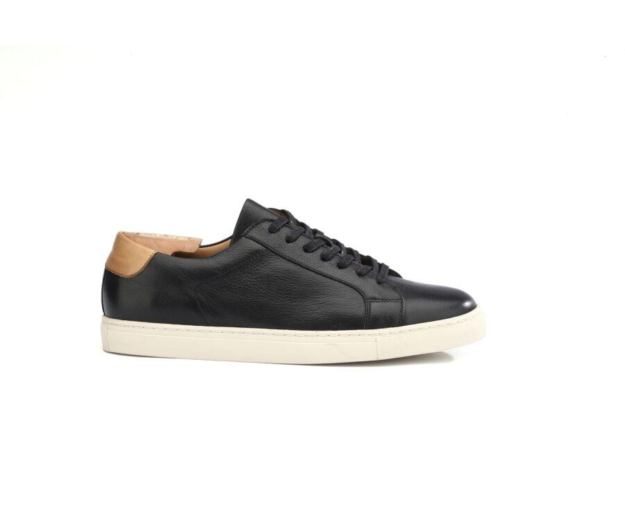 Inglewood Black grained leather