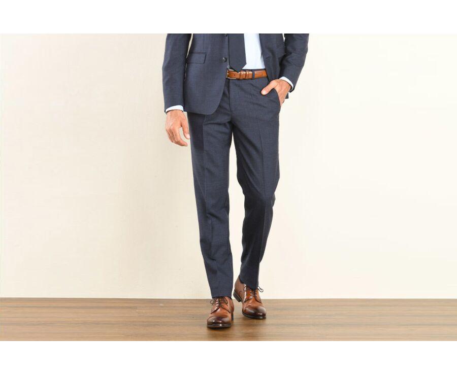 Lazare Trousers Dark Blue Melange