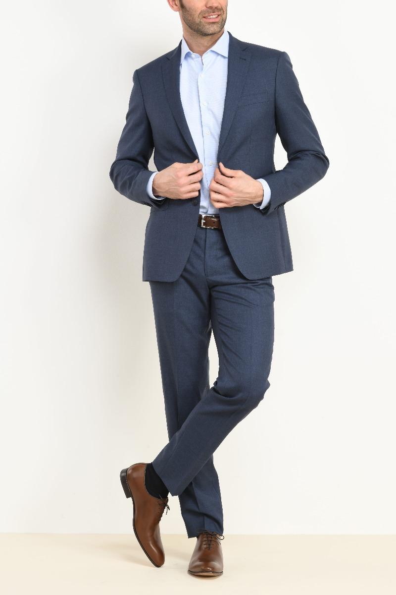 Lazare suit blue melange
