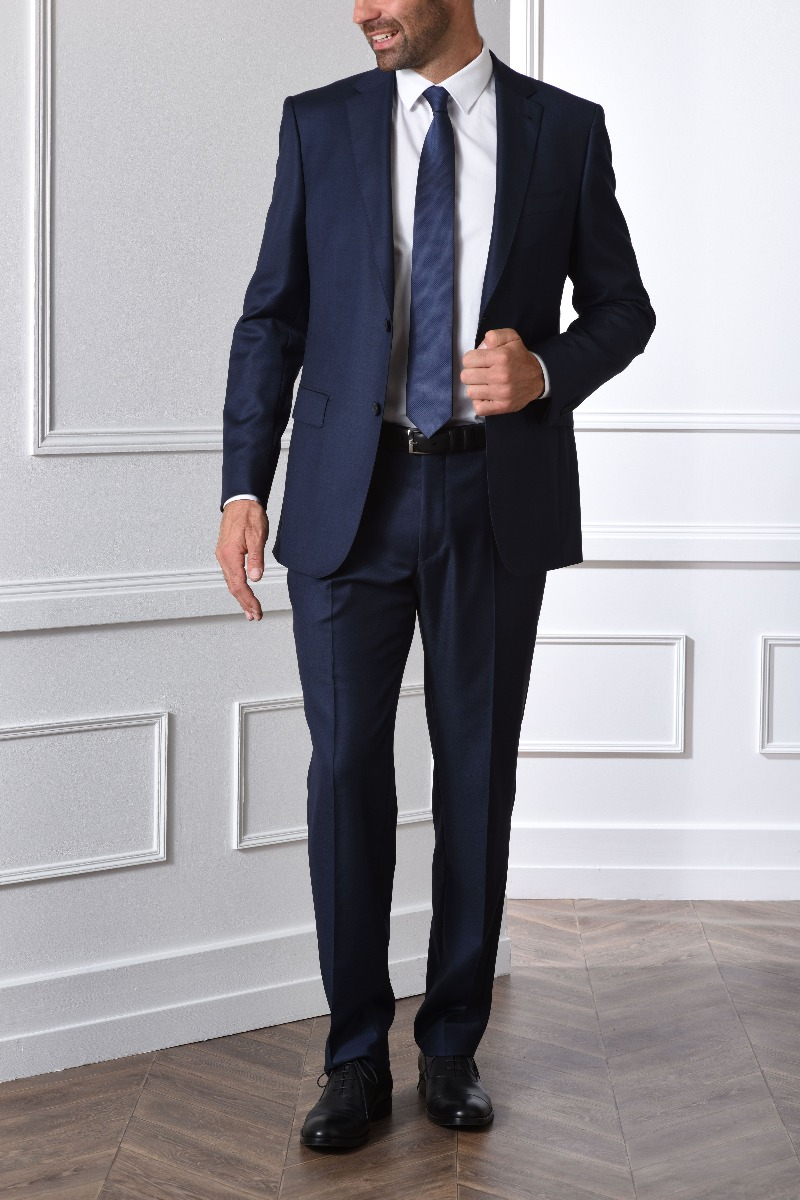 Lazare suit prussian blue